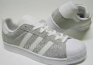 silver glitter adidas